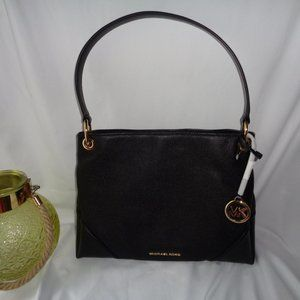 Michael Kors Nicole Medium Shoulder Bag Black